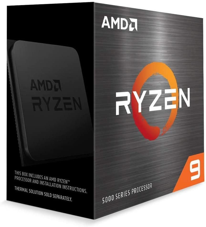 تصویر پردازنده ای ام دی Ryzen 9 5900X باندل با مادربردهای ایسوس AMD Ryzen 9 5900X AM4 Processor