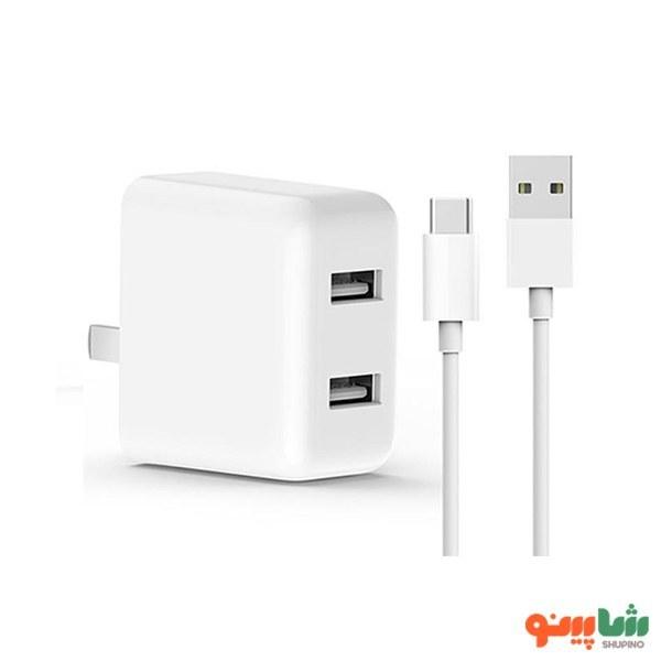 main images آداپتور شارژ سریع 2 پورت zmi شیائومی به همراه کابل تایپ سی Xiaomi ZMI HA622 Dual USB Quick Charger