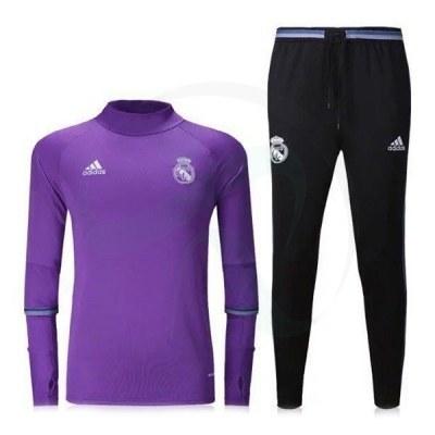 ست گرمکن شلوار رئال مادرید بنفش Adidas Real Madrid 2016-17 Tracksuits b
