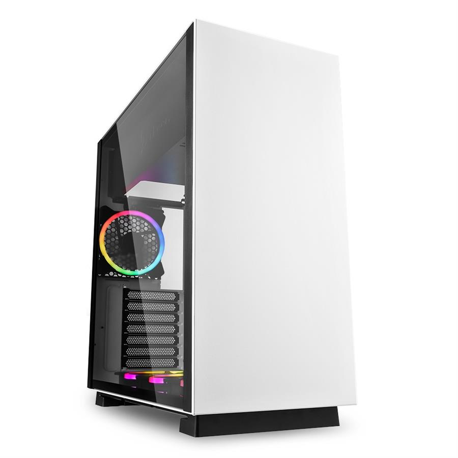 تصویر کیس شارکن مدل PURE STEEL RGB White Sharkoon PURE STEEL RGB White ATX Midi Tower Case