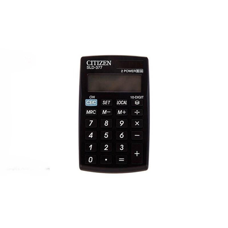 تصویر ماشین حساب مدل SLD-377 سیتیزن Citizen SLD-377 calculator