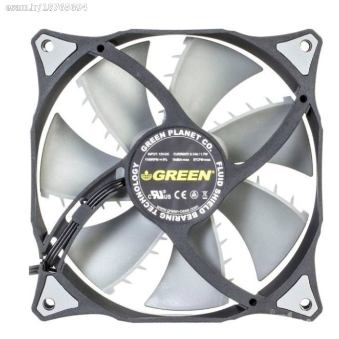تصویر فن کیس گرین GF120-FSB GREEN GF120-FSB 120MM PWM Case Fan