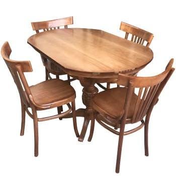 میز و صندلی ناهار خوری اسپرسان چوب مدل SM34 |