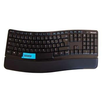 تصویر کیبورد بیسیم مایکروسافت مدل Desktop Sculpt Microsoft Desktop Sculpt Comfort Wireless Keyboard