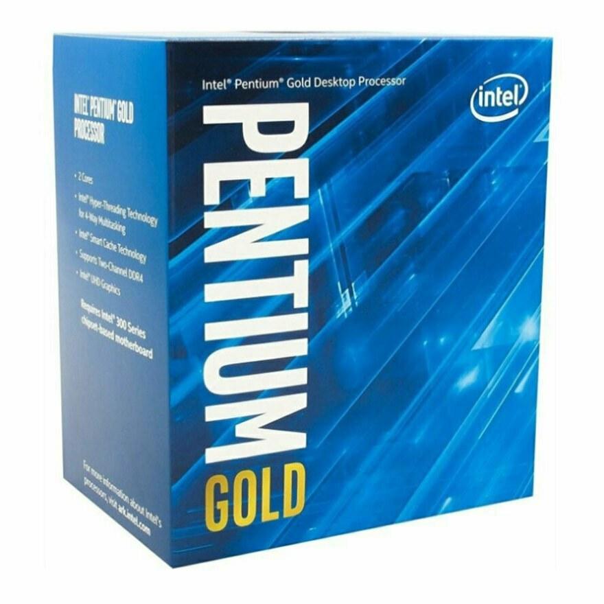 تصویر پردازنده اینتل Pentium Gold G6405 Comet Lake Intel Pentium Gold  G6405 Comet Lake LGA 1200  Processor