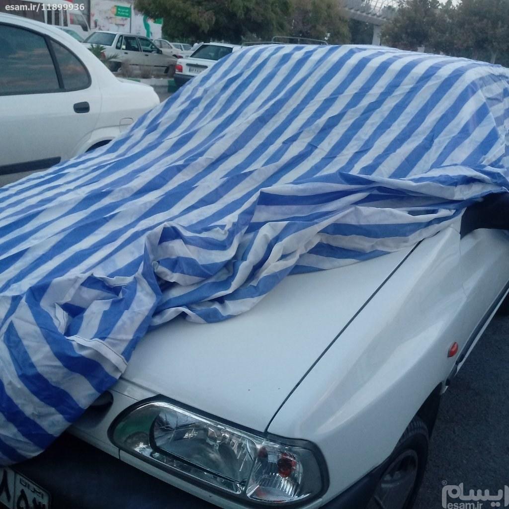 چادر خودروهای سواری برای پرایدها تیبا ساینا 405 | پارس سمندوخودروهای در این اندازه ضداب و گرد غبار دو رو دو لایه جنس اعلاقابل استفاده در زمستان و تابس