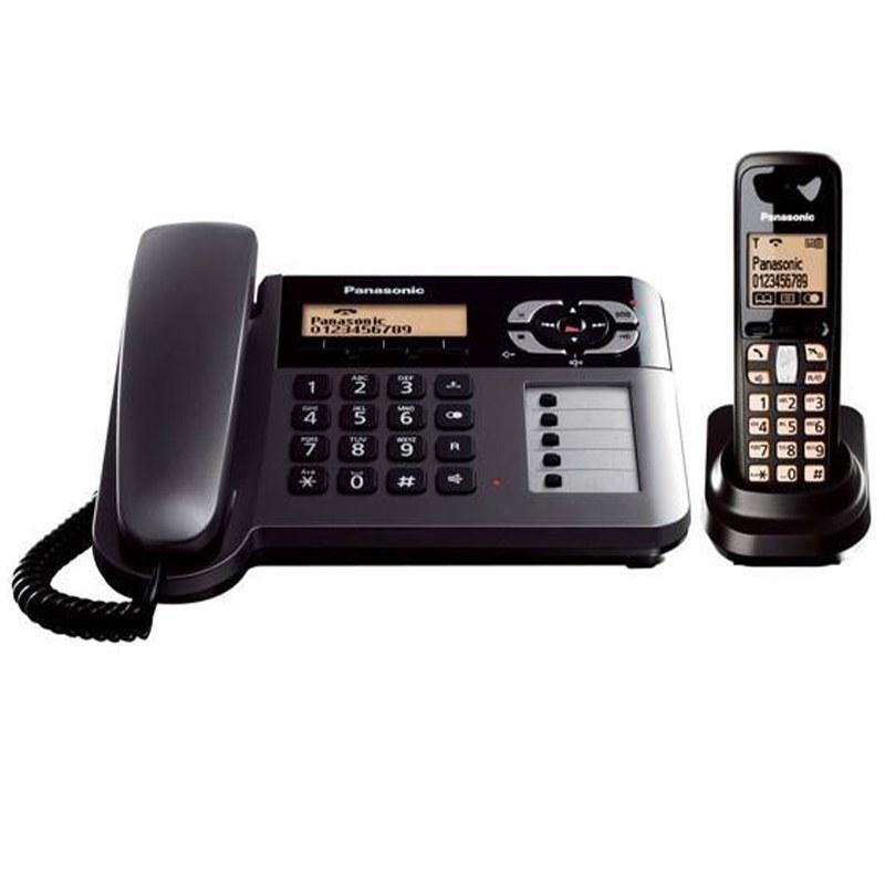 main images تلفن Panasonic KX-TG6461 Panasonic KX-TG 6461 Corded and Cordless Telephone with Answer Machine