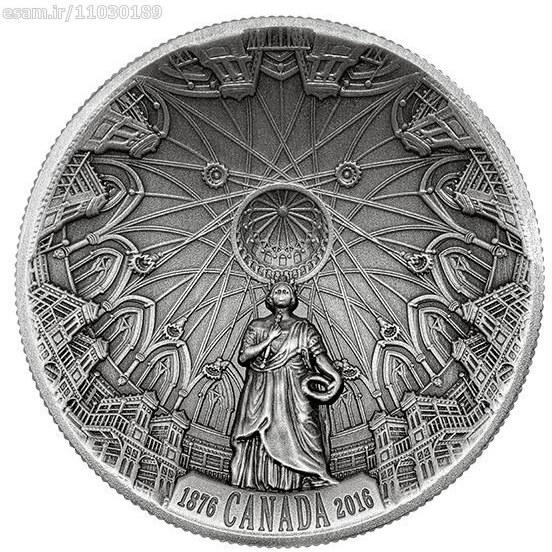 زیر قیمت رسمی / سکه محدب کتابخانه پارلمان کانادا !