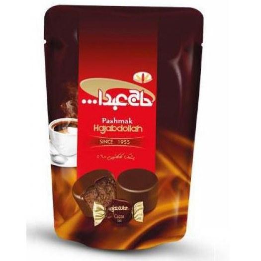 تصویر پشمک لقمه ای حاج عبدالله شکلات تلخ 350 گرمی کدpt-22