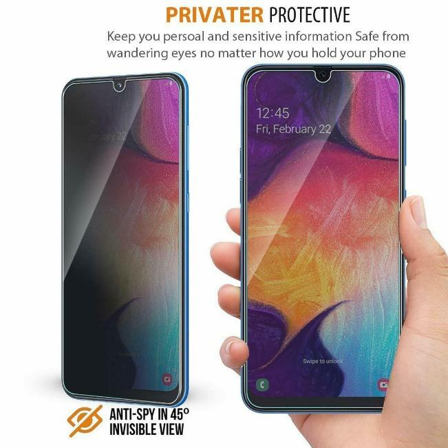 گلس ضد جاسوسی گوشی سامسونگ Anti Spy Privacy Glass Samsung Galaxy A70 | Anti Spy Privacy Glass Samsung Galaxy A70