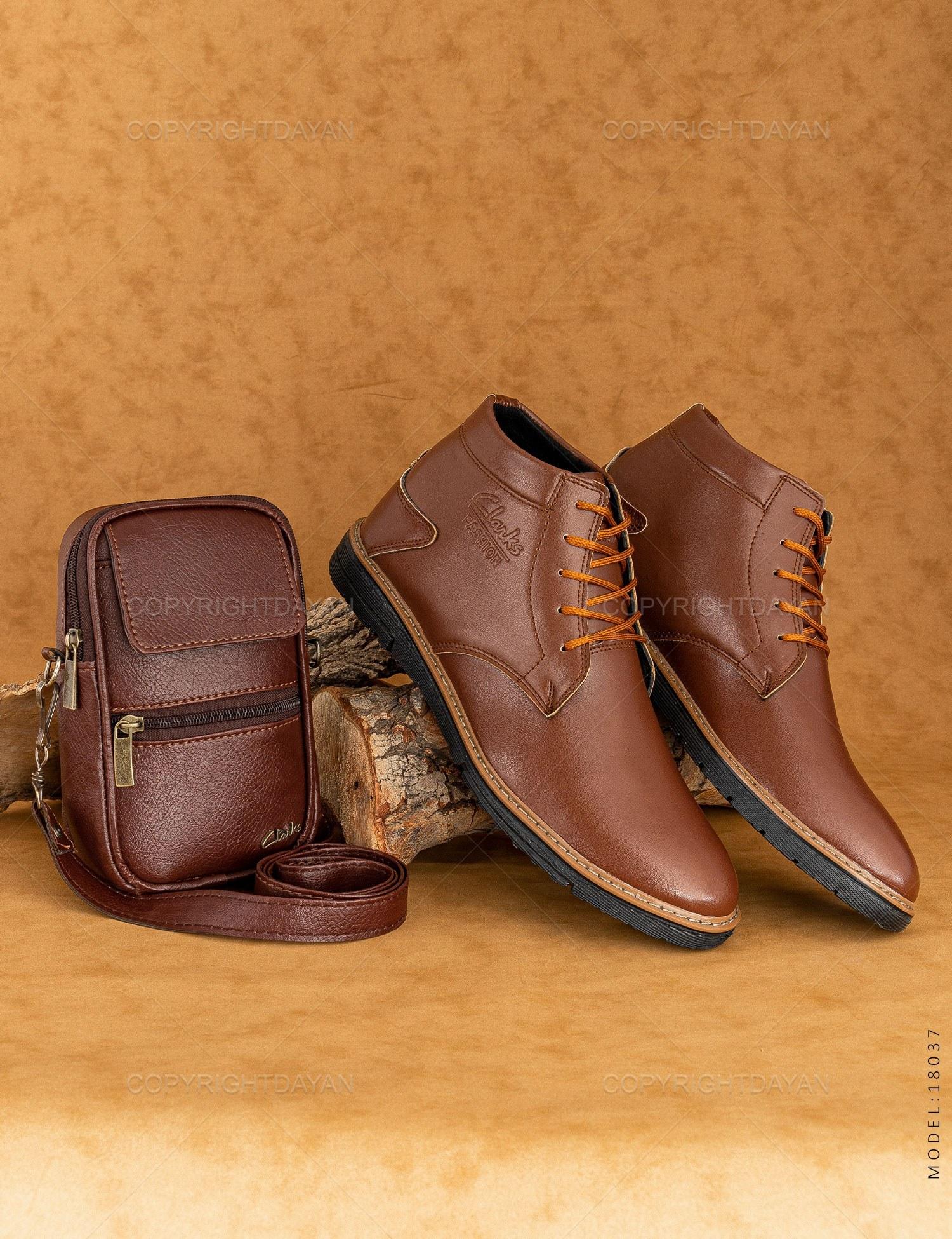 تصویر ست کیف و کفش مردانه Clarks مدل 18037