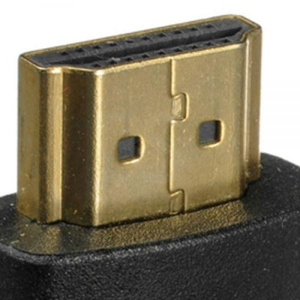 تصویر مبدل HDMI مادگی به HDMI نری 90 درجه L شکل HDMI TO HDMI Adapter L-Type