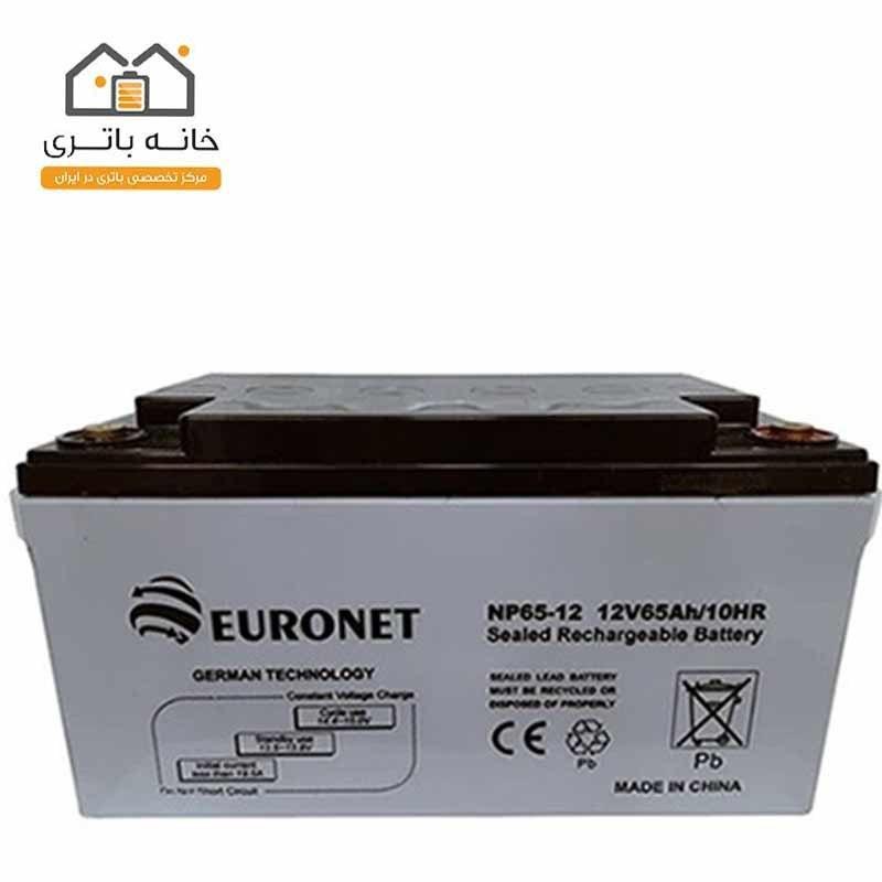 main images باتری خشک 12 ولت 65 آمپر یورونت (euronet)
