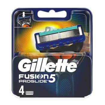 تصویر تیغ یدک فیوژن پروگلاید 5 لبه 4 عددی ا fusion 5 proglide gillette fusion 5 proglide gillette