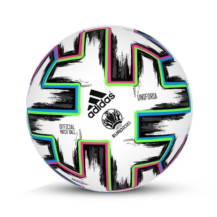 تصویر توپ فوتبال چرمی سایز 5 طرح یورو – EURO 2020