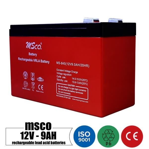 main images باتری شارژی 12 ولت 9 آمپر MSCO مدل MS-845 Rechargeable battery 12 volt 9 Amps MSCO model MS-845