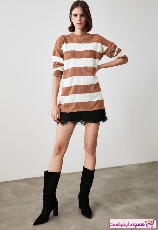 تصویر پلیور زنانه قیمت مارک ترندیول میلا رنگ قهوه ای کد ty54524577