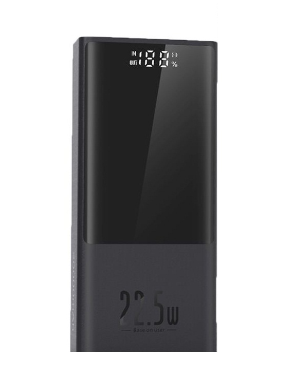 تصویر پاوربانک 20000 فست شارژ بیسوس Baseus PPMN-B01 Super Mini Digital Display Power Bank توان 22.5 وات