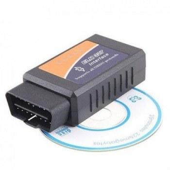 تصویر اسکنر OBD/OBDII - مبدل ELM 327 ای سی یو - رابط USB