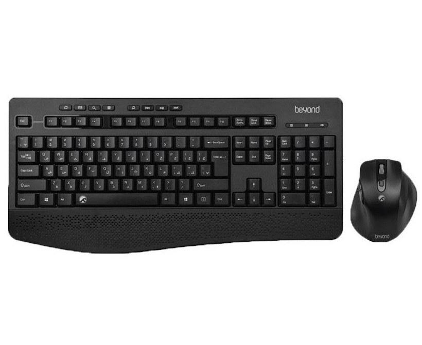 تصویر کیبورد و ماوس بی سیم بیاند مدل BMK-9220RF با حروف فارسی Beyond BMK-9220RF Keyboard and Mouse with persian letters