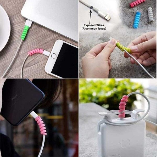 تصویر محافظ کابل Protector Spiral Cable Protector Silicone