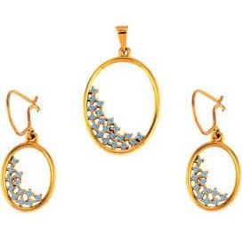 نیم ست طلا 18 عیار جواهری سون مدل 2144   Seven Jewelry C2144 Gold Half Set