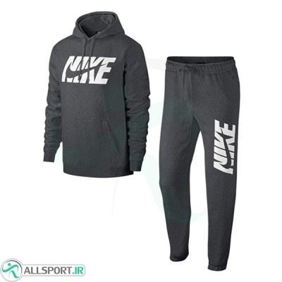 گرمکن شلوار نایک Nike NSW Jersey Graphic Grey Full Tracksuit AR1341-071