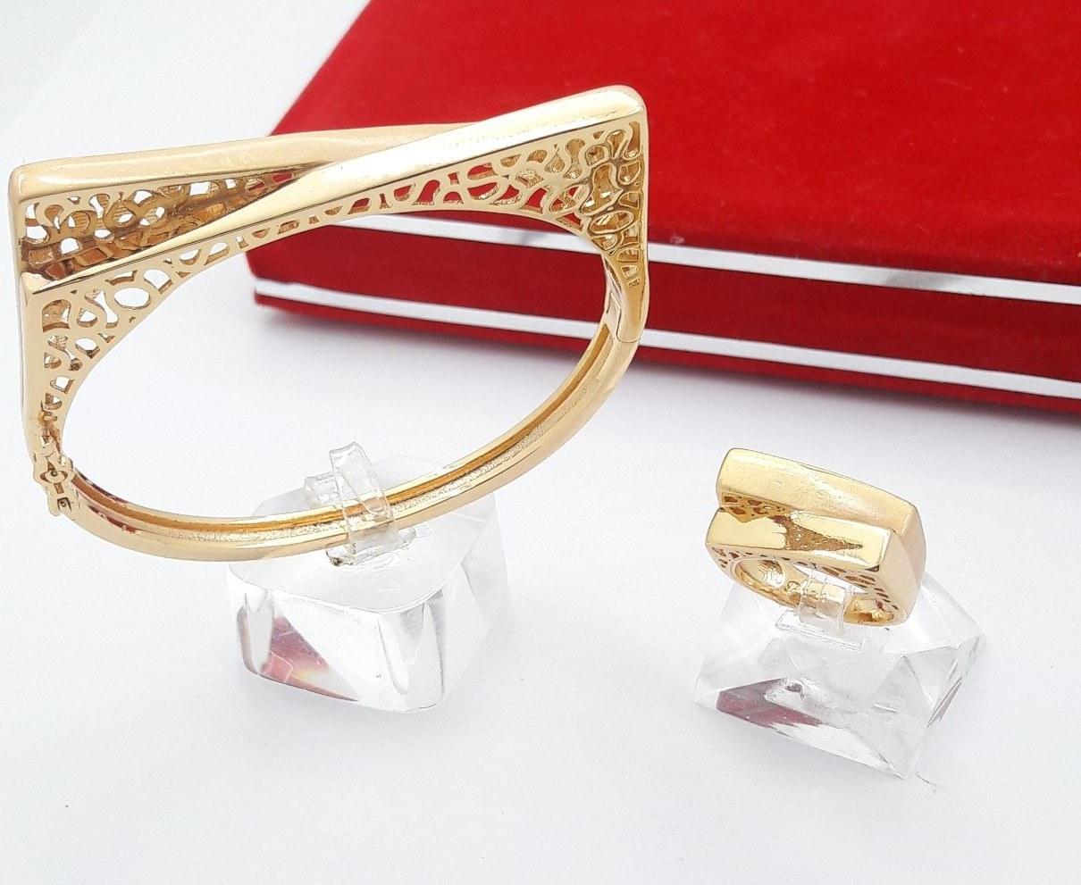 main images ست دستبند و انگشتر طرح طلا