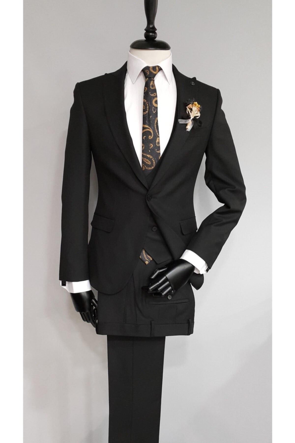 تصویر خرید کت شلوار غیرحضوری برند BAGGI رنگ مشکی کد ty66394647