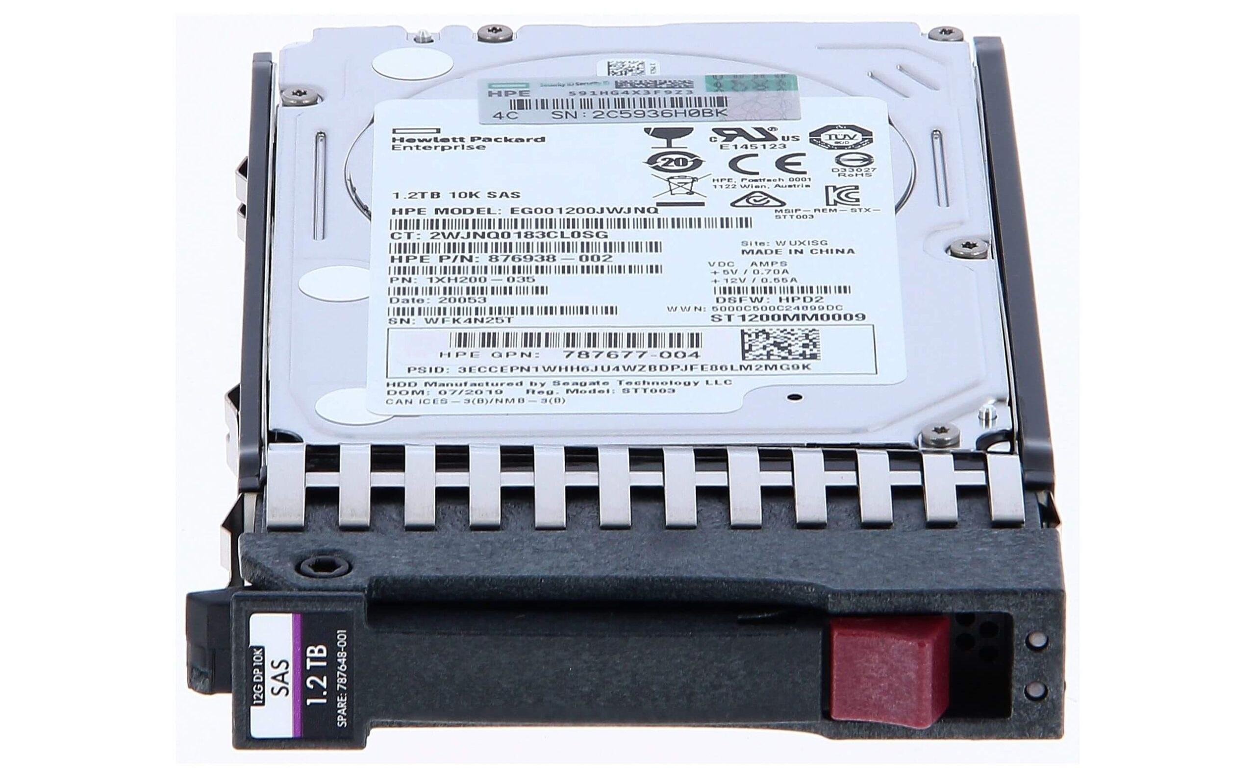 تصویر هارد سرور HP 1.2T SAS 10K 6G SFF G7
