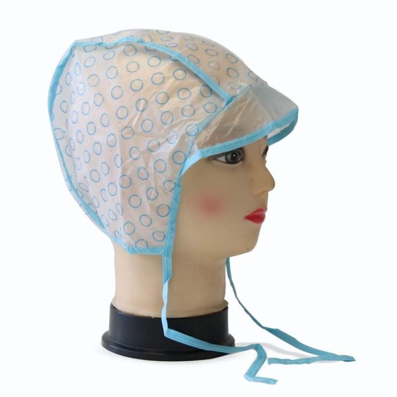 کلاه مش بند دار آبی