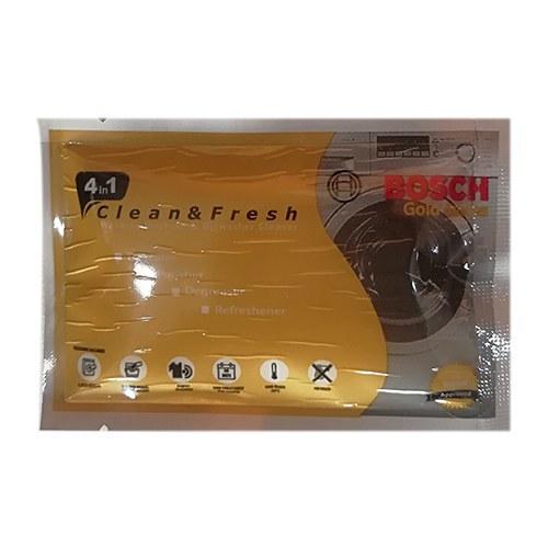تصویر پودر جرم گیر ماشین لباسشویی و ظرفشویی مدل GOLD بوش Bosch وزن ۴۰ گرم