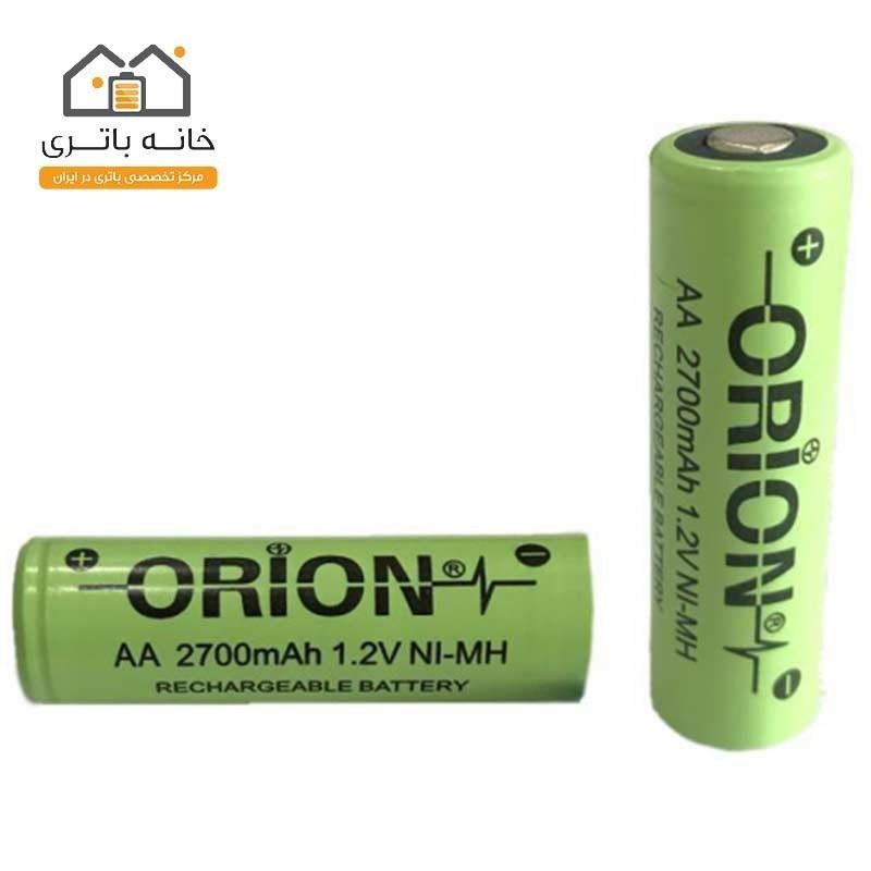 تصویر باتری قلمی شارژی سرتخت 2700 میلی آمپر اوریون orion