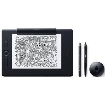 تصویر تبلت گرافیکی و قلم نوری وکام سایز بزرگ مدل اینتوس پرو پیپر ادیشن PTH-860P Wacom Intous Pro Paper Edition PTH-860P Large Pen Tablet
