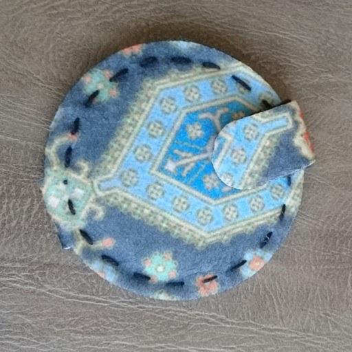 آینه جیبی نمدی دست دوز طرح سنتی |