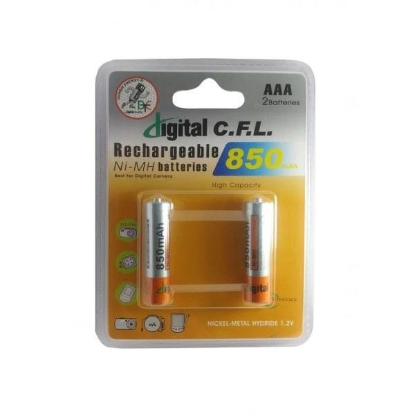 باتری نیم قلمی AAA شارژی CFL 850