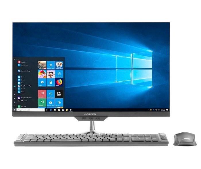 تصویر کامپیوتر همه کاره 23.8 اینچی گرین مدل GX24-i318S کامپیوتر آماده AIO گرین GX24-i318S Core i3 8GB 1TB 120GB SSD Intel All-in-One PC
