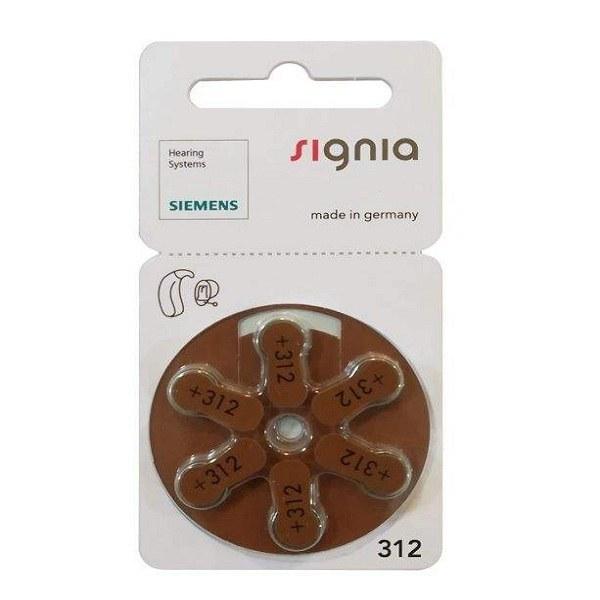 عکس باتری سمعک زیمنس شماره ۳۱۲ بسته ۶ عددی  باتری-سمعک-زیمنس-شماره-312-بسته-6-عددی