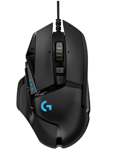 تصویر ماوس مخصوص بازی لاجیتک مدل G502 HERO Logitech G502 HERO Gaming Mouse