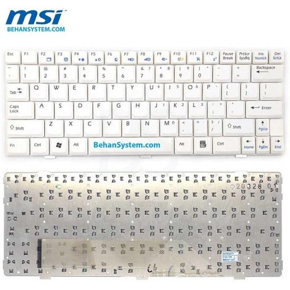 تصویر کیبورد لپ تاپ MSI مدل WIND U123 به همراه لیبل کیبورد فارسی جدا گانه