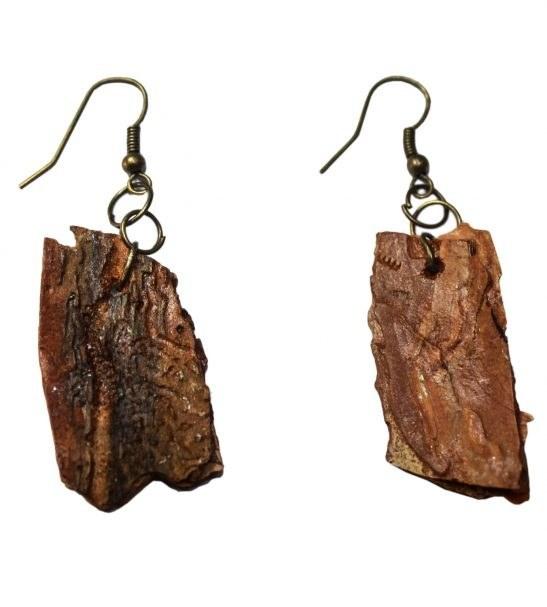 گوشواره زنانه طرح چوب درخت کد 22