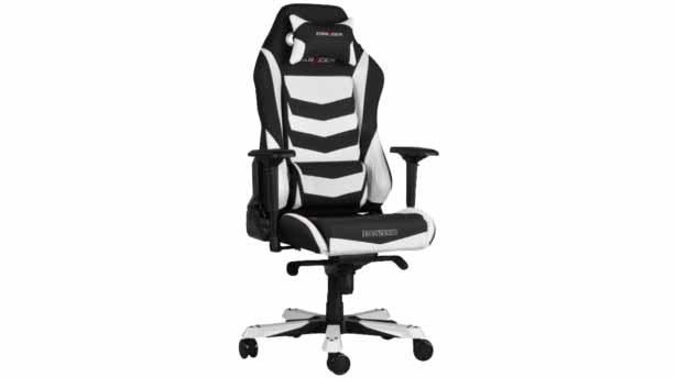 تصویر صندلی گیمینگ سری آیرون DXRACER Iron Series OH/IS166/NW