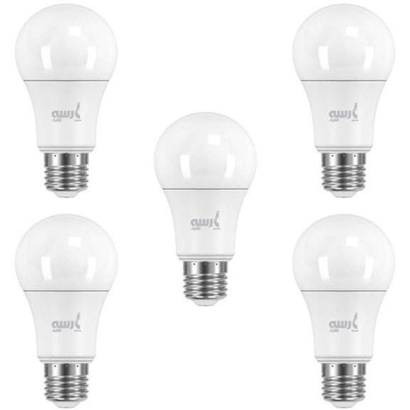 لامپ ال ای دی 12 وات پارسه شید مدل A60 پایه E27 بسته 5 عددی |