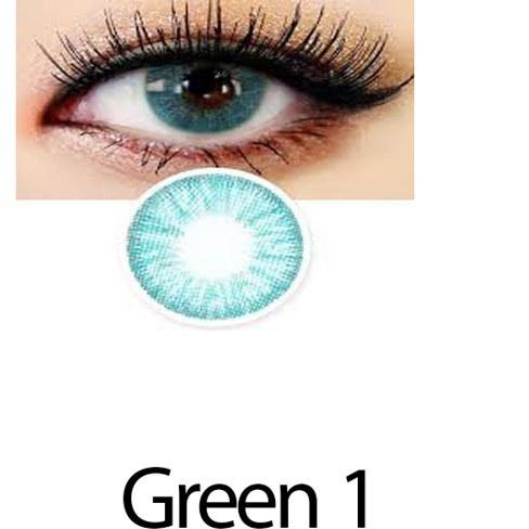 تصویر لنز رنگی چشم سبز آبی لاکی لوک مدل Green 1