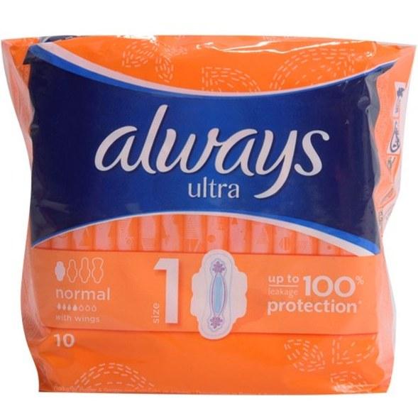 نوار بهداشتی الویز مدل Ultra نرمال بسته 10 عددی