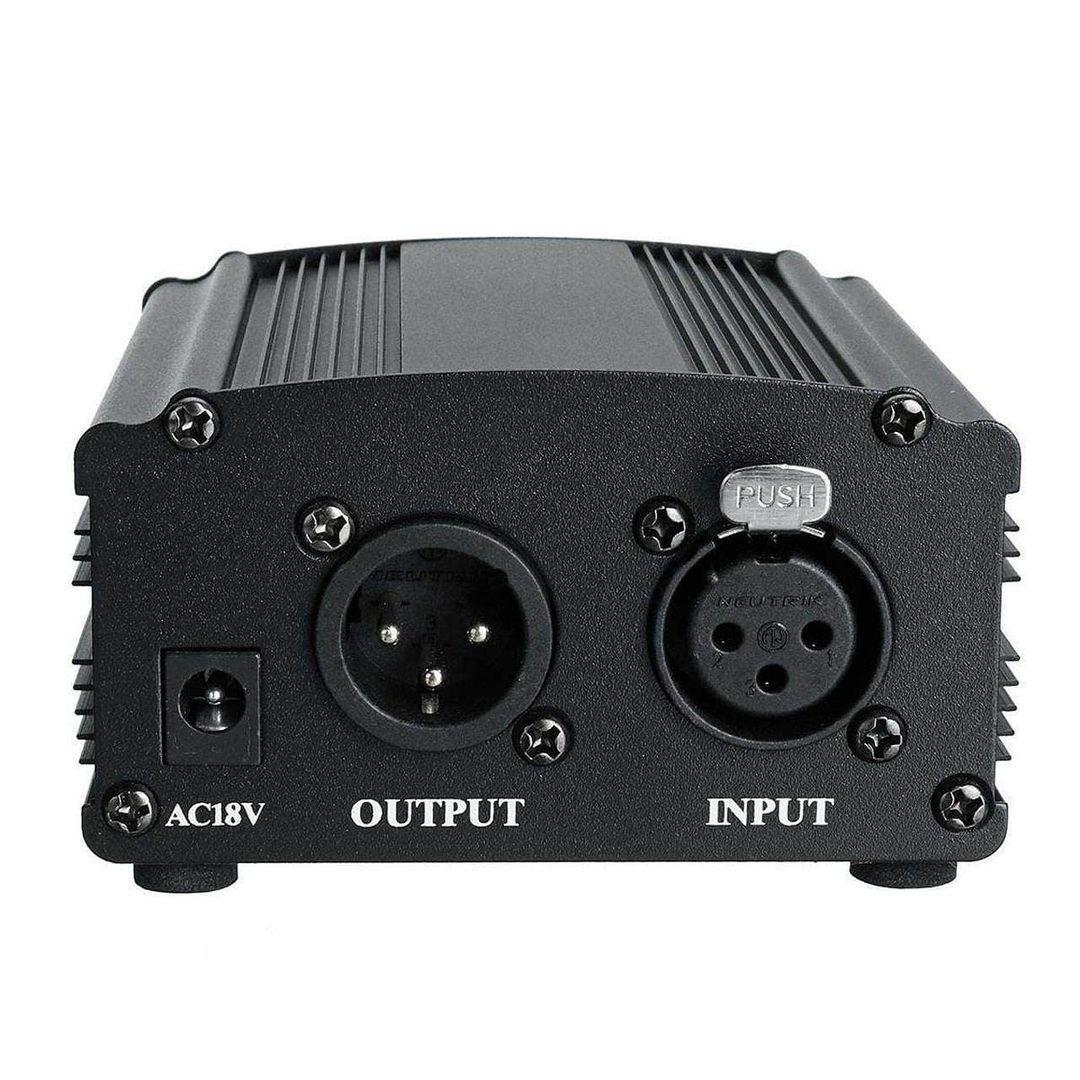 تصویر منبع تغذیه فانتوم پاور 48 ولت میکروفون   48V Phantom Power