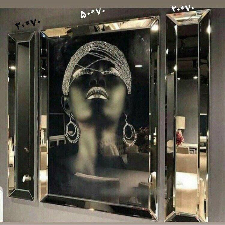 تصویر کد 319   ست تابلوی آینه ای لوکس
