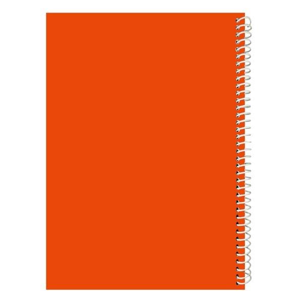 تصویر دفتر مشق 100 برگ جلد نارنجی