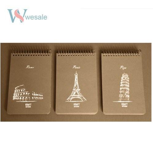 دفتر 100 برگ یادداشت طراحی کاغذ کرافت - A6 |