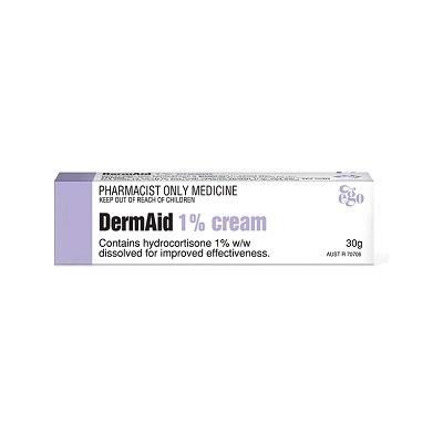 کرم درم اید هیدروکورتیزون 1% ایگو کیووی مناسب پوست دارای اگزما و التهابات 30 گرم
